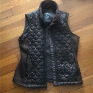 LL Bean Women's brown quilted best XS